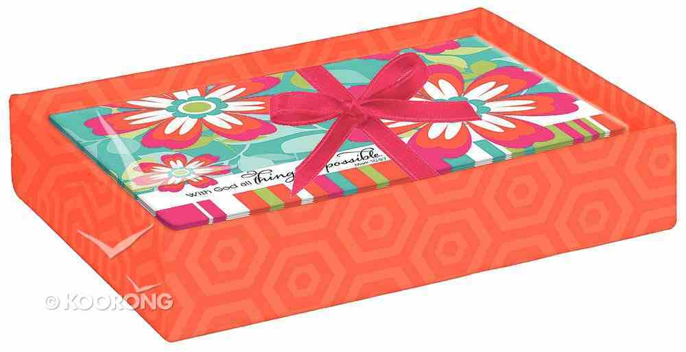 Boxed Cards: All Things Are Possible Bright Flowers (8 Cards/envelopes) Box