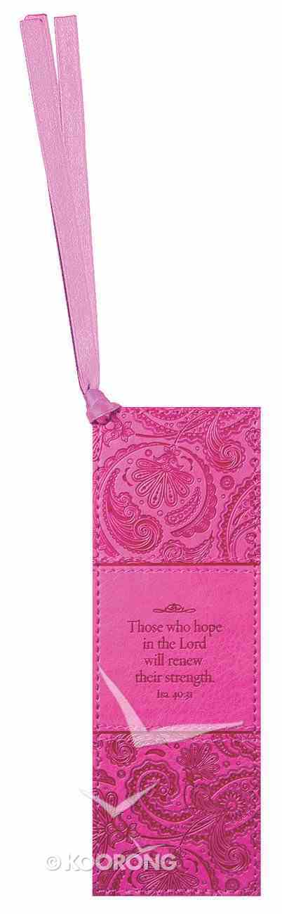 Bookmark: Those Who Hope in the Lord Will Renew Their Strength Luxleather Imitation Leather
