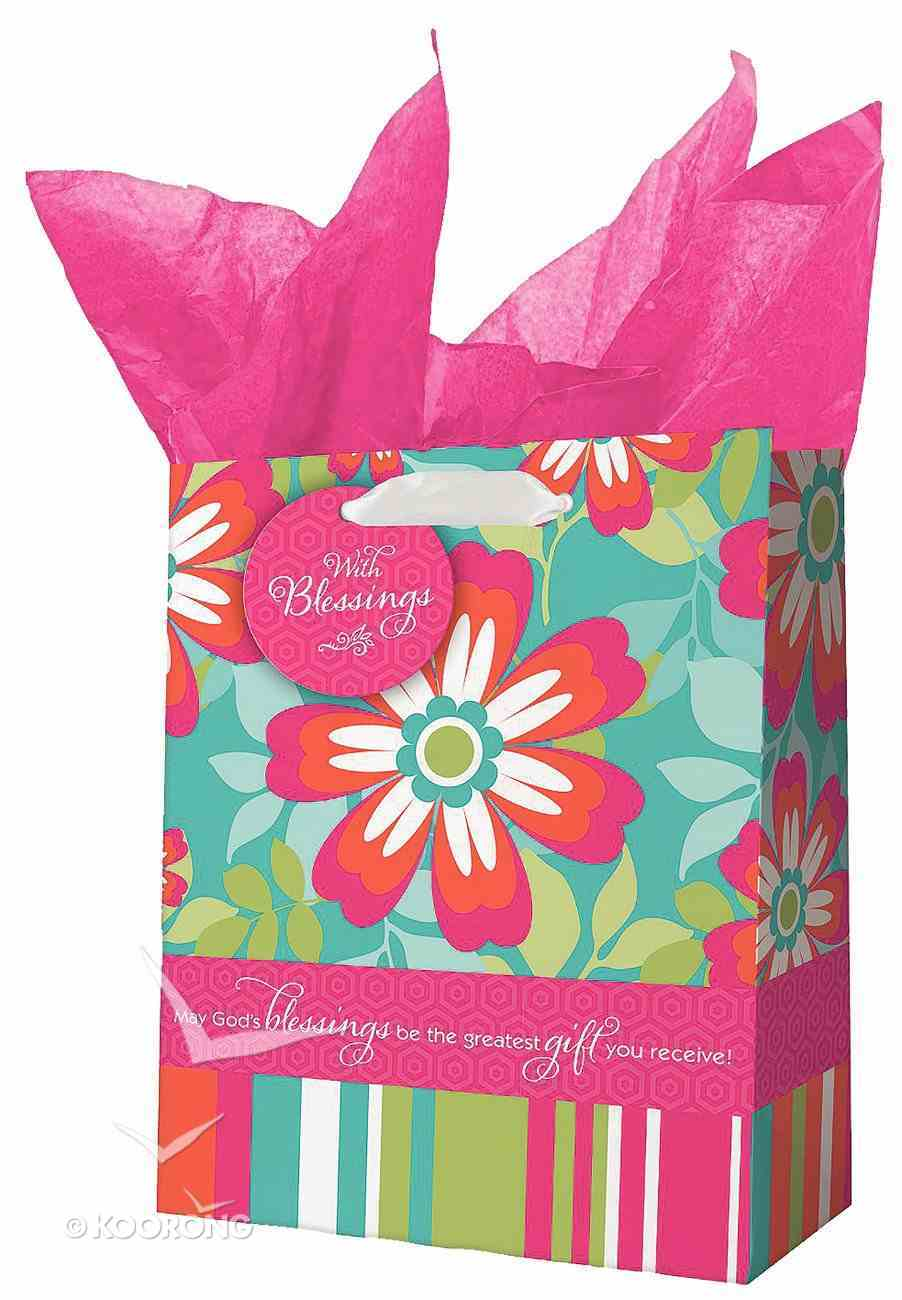 Gift Bag Medium: All Things Are Possible Bright Flowers Stationery