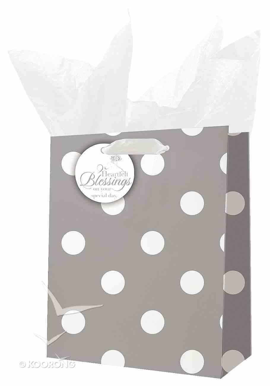 Gift Bag Medium: Rejoice White/Gray Stationery
