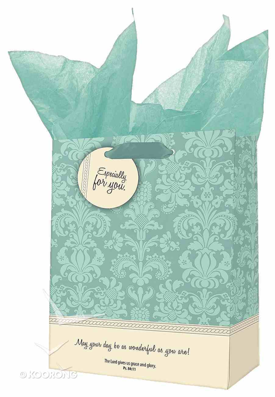 Gift Bag Small: Grace and Glory Blue/Cream Pattern Stationery
