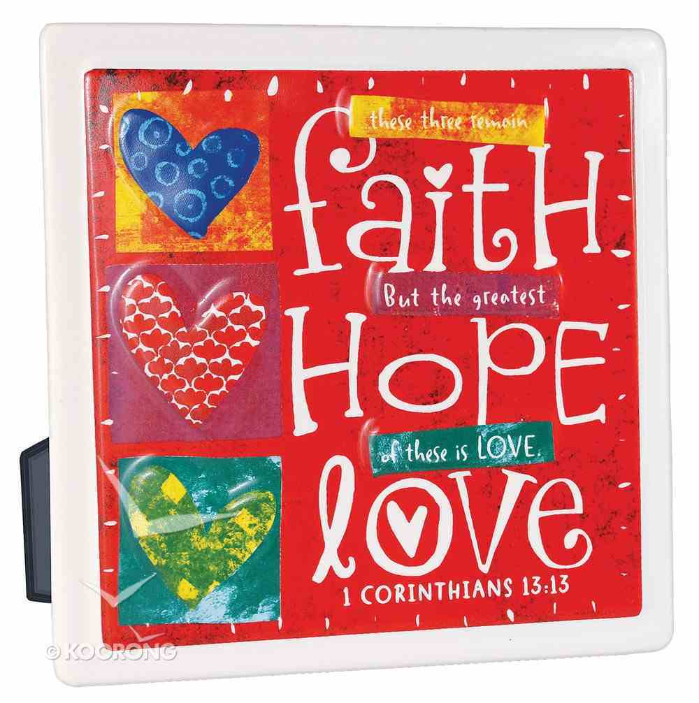 Ceramic Plaque: Faith Hope Love Homeware