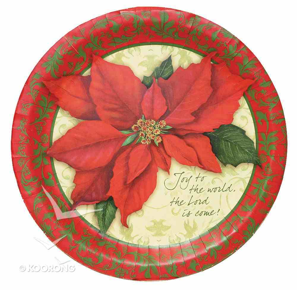 Christmas Paper Plates: Joy to the World, 26Cm (Pack Of 8) General Gift