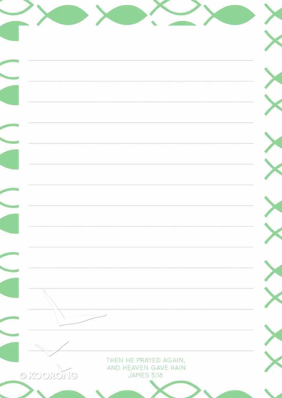 Notepad: Green Fish Pattern (70 Sheets) Stationery