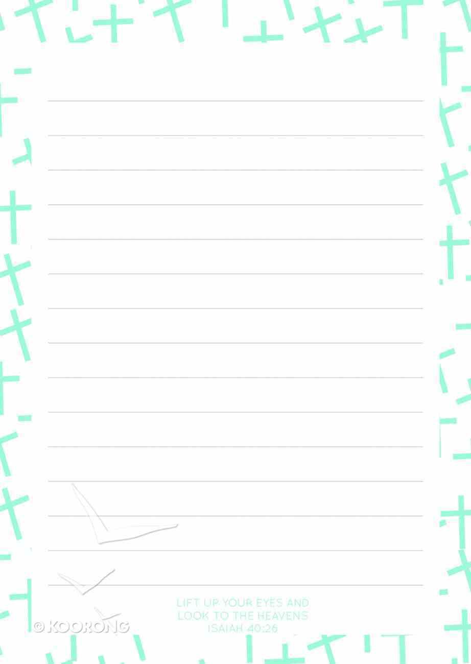 Notepad: Blue Cross Pattern (70 Sheets) Stationery
