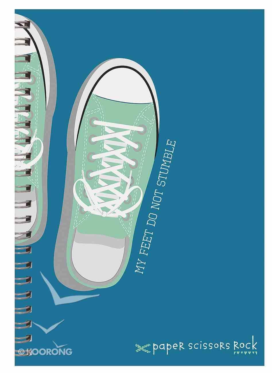 Boys Adventure A6 Spiral Notepads: My Feet Do Not Stumble Spiral