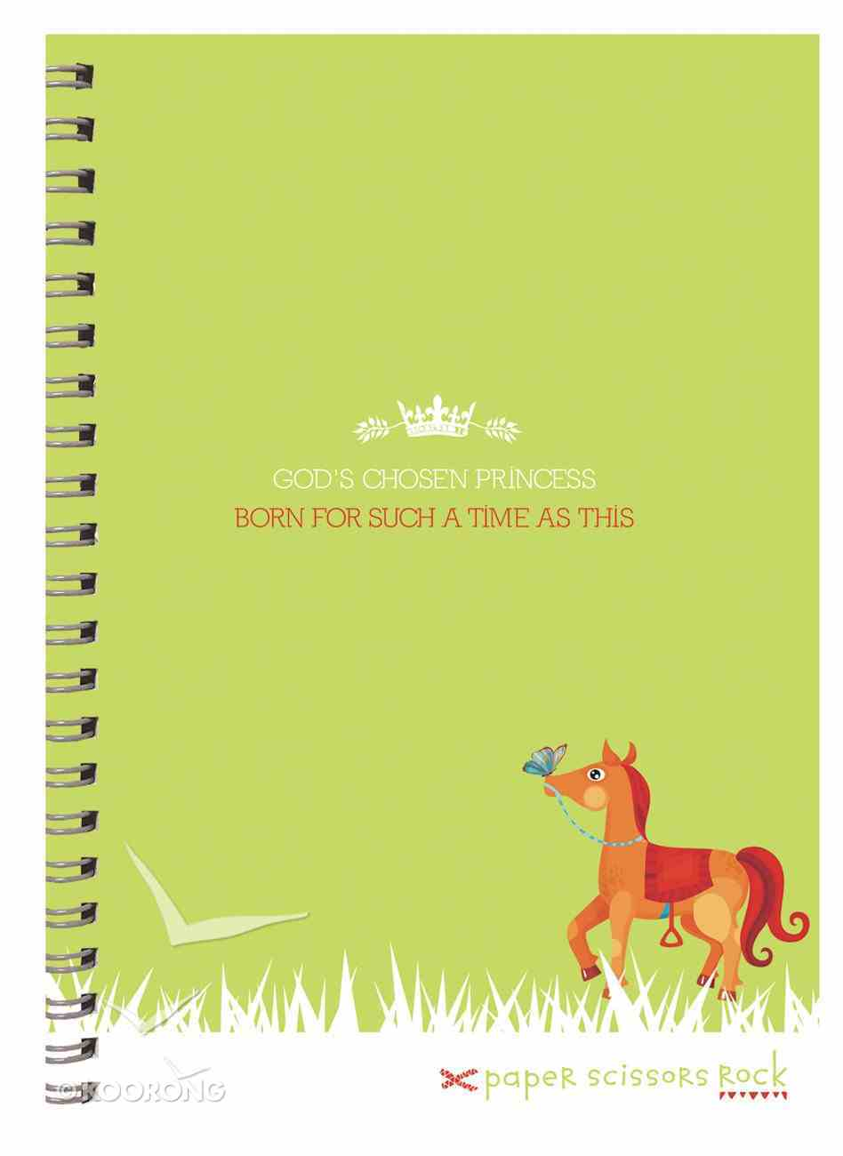 Girls Princess A5 Spiral Notepad: God's Chosen Princess, Born For Such a Time as This Spiral