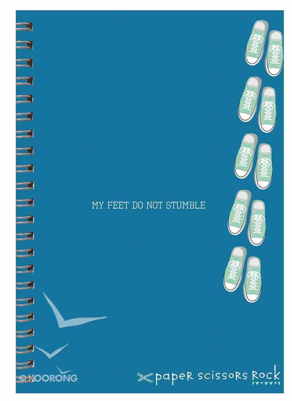Boys Adventure A4 Spiral Notepad: My Feet Do Not Stumble Spiral