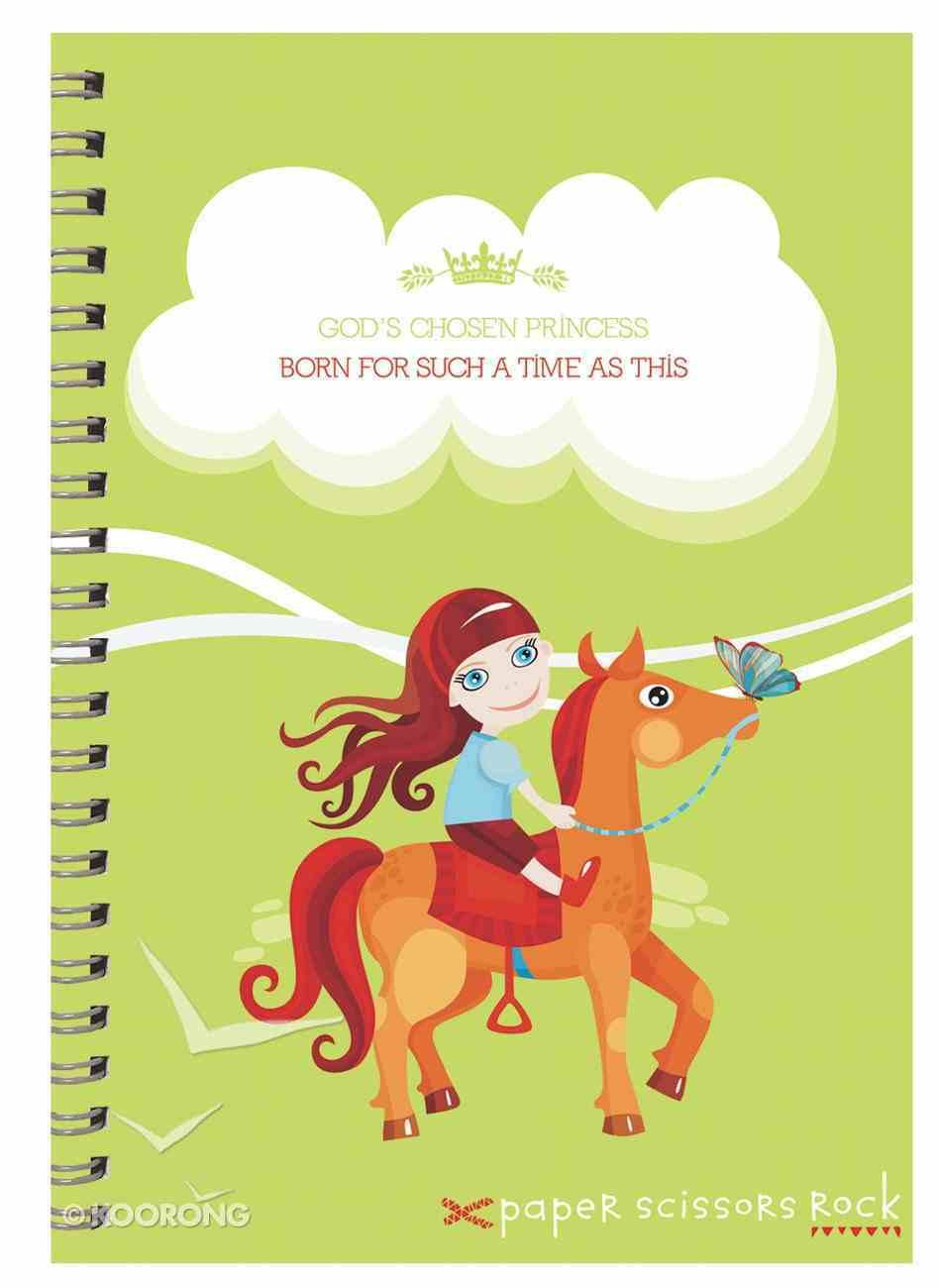 Girls Princess A4 Spiral Notepad: God's Chosen Princess, Born For Such a Times as This Spiral