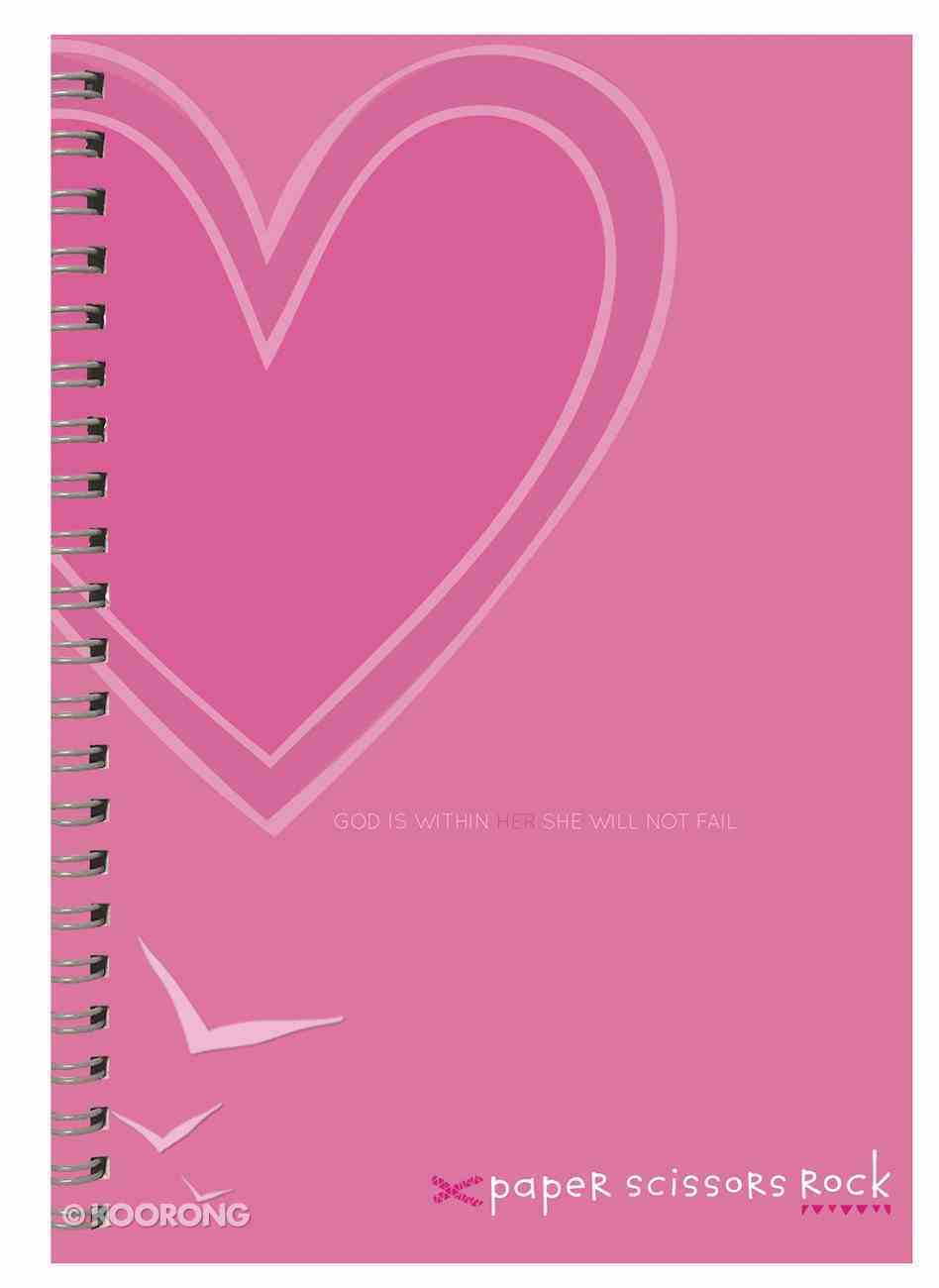 Teen Girls A4 Spiral Notepad: God is Within Her, She Will Not Fail Spiral