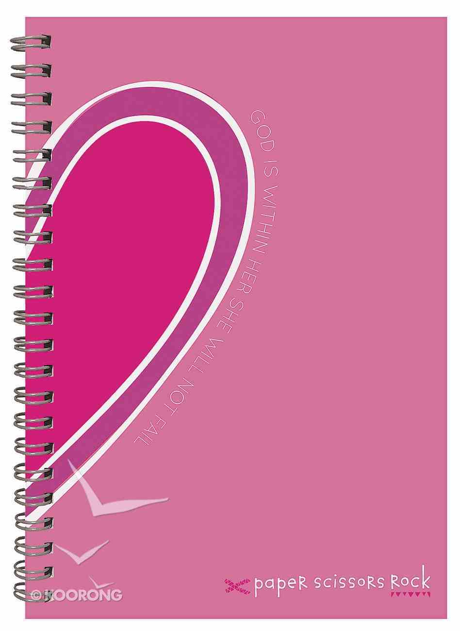Teen Girls A6 Spiral Notepad: God is Within Her, She Will Not Fail Spiral