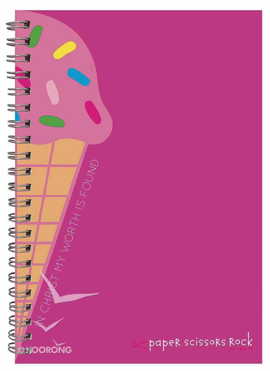 Teen Girls A6 Spiral Notepad: In Christ My Worth is Found Spiral