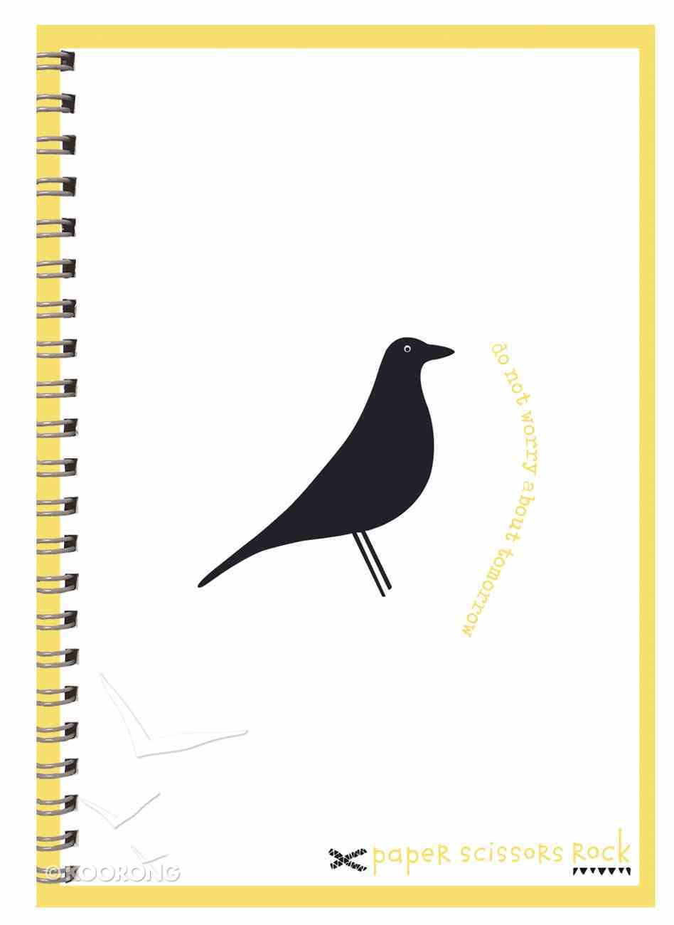 Unisex Retro A6 Spiral Notepad: Do Not Worry About Tomorrow Spiral
