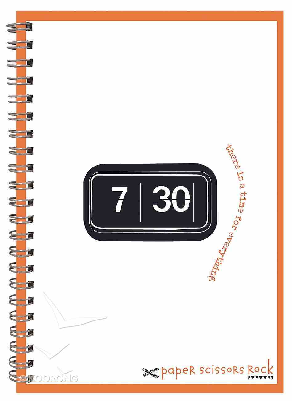 Unisex Retro A6 Spiral Notepad: There is a Time For Everything Spiral