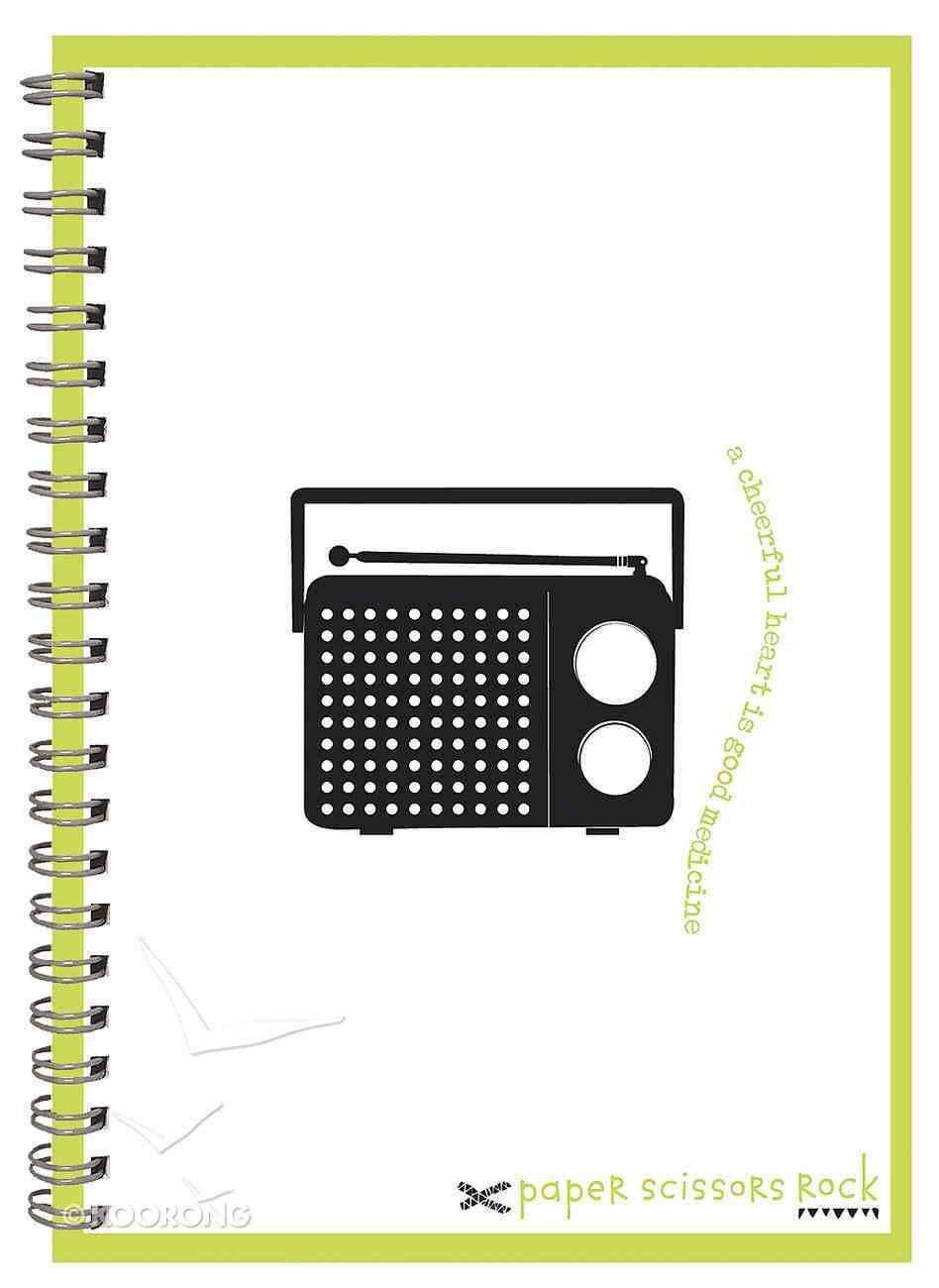 Unisex Retro A6 Spiral Notepad: A Cheerful Heart is Good Medicine Spiral