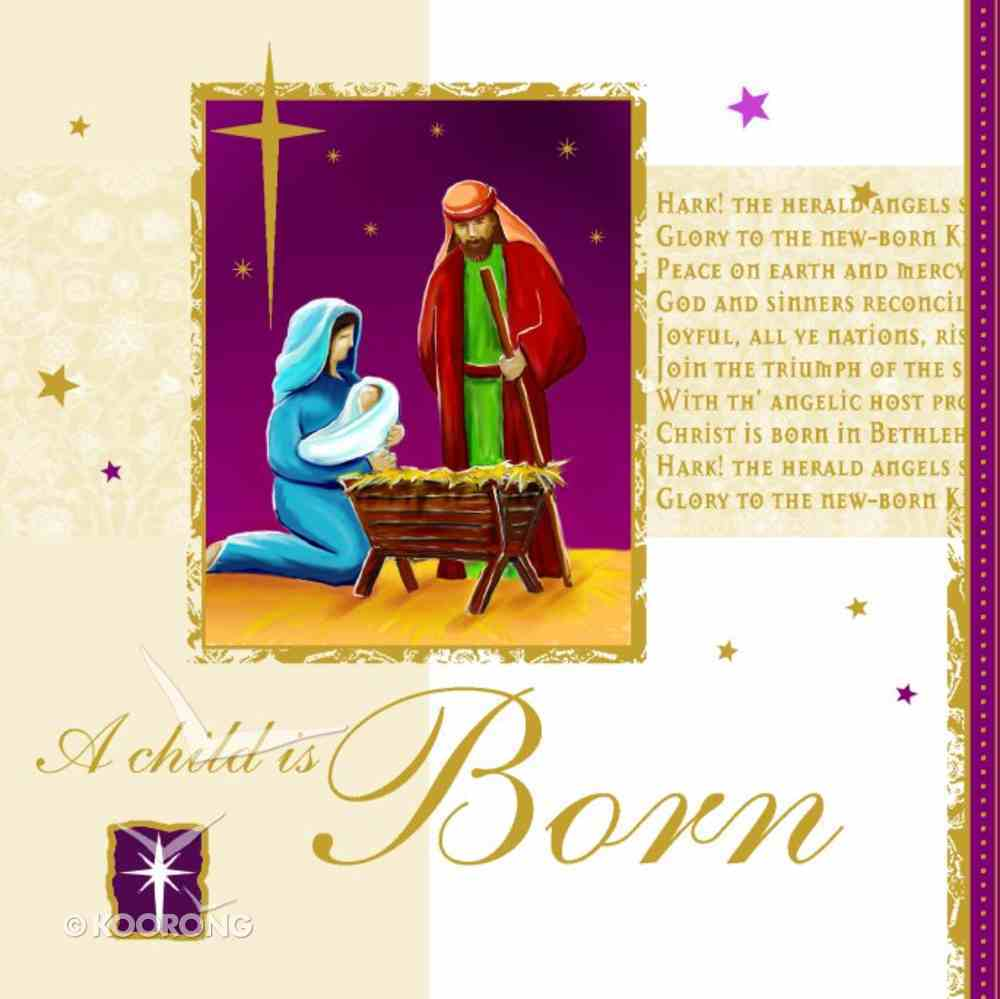 Christmas Boxed Cards: A Child is Born Gold Foiled Box