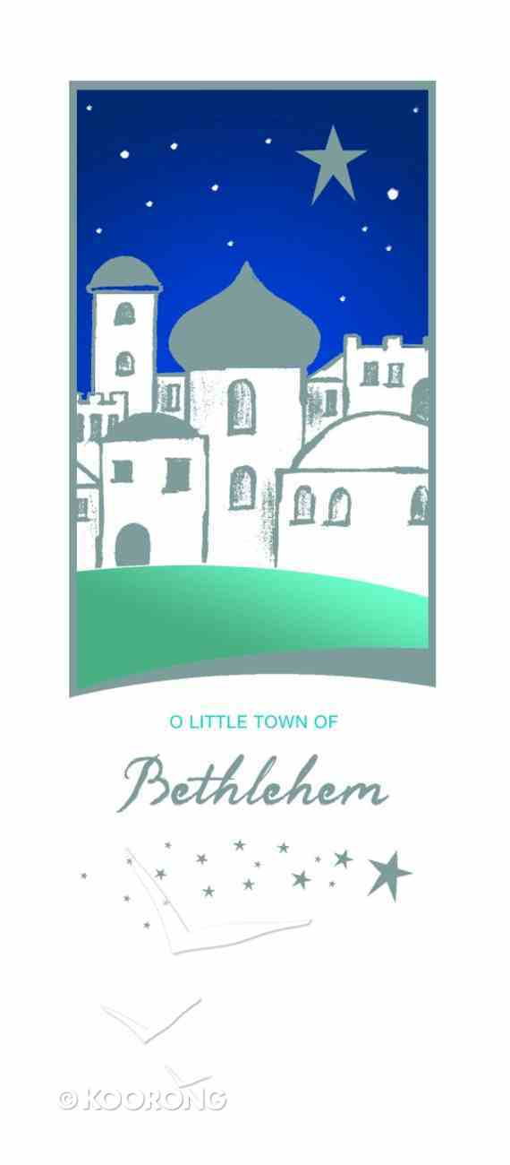 Christmas Boxed Cards: O Little Town of Bethlehem Silver Foiled Cards