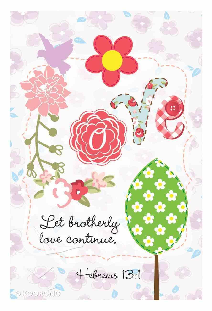 Notepad Faith, Hope, Love, Joy Series (7.5cm X 11.5cm) (4 Pk) Stationery