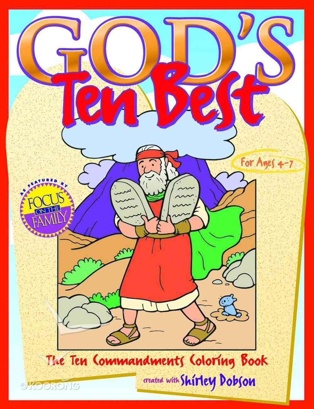 Colouring Book: God's Ten Best (God's Ten Best Series) Paperback