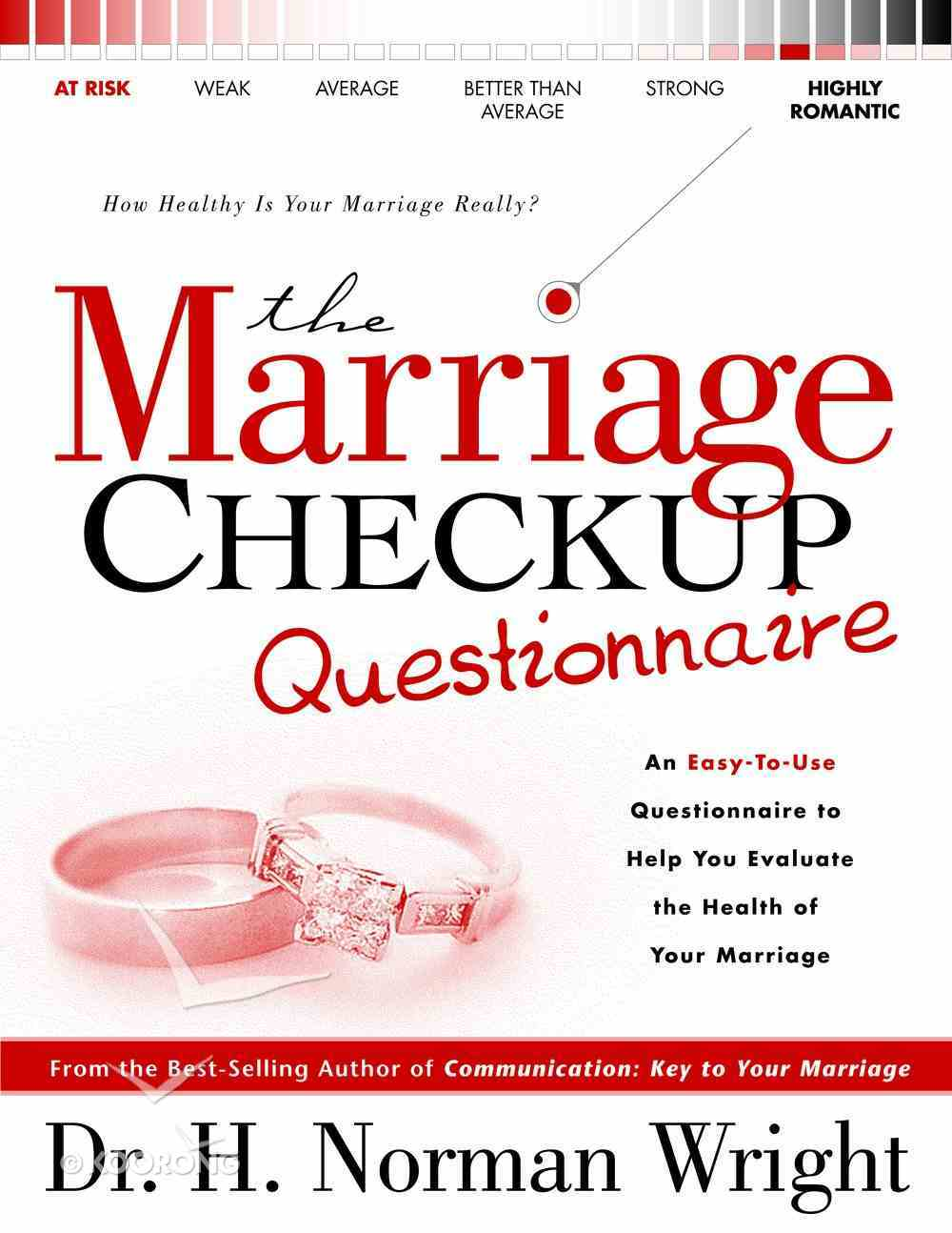 Marriage Checkup Questionnaire Paperback