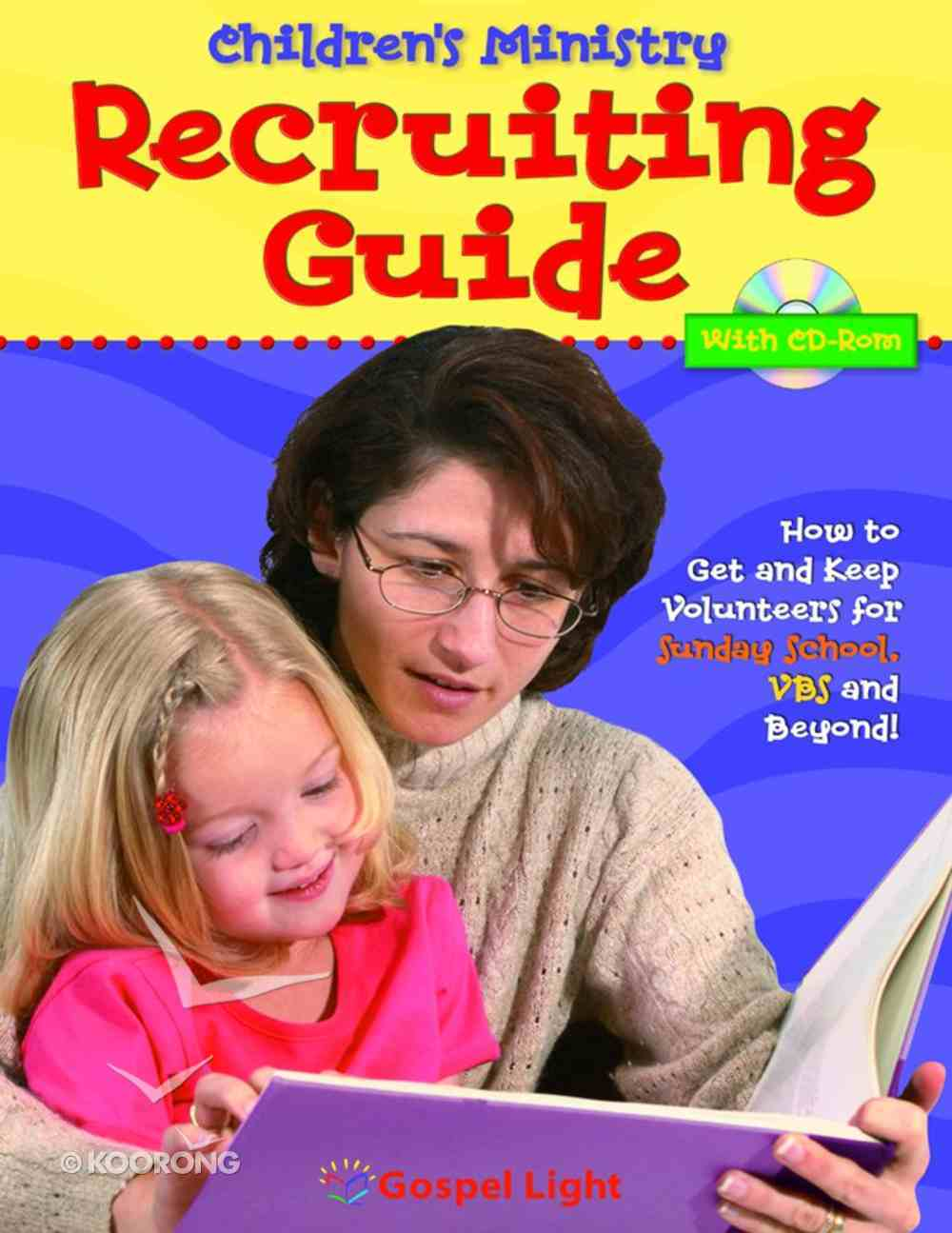 Children's Ministry Recruiting Guide With CDROM Paperback