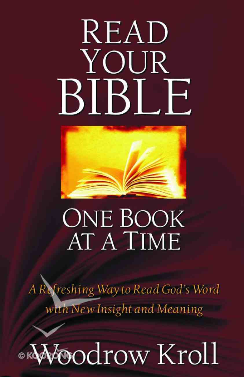 Read Your Bible One Book At a Time Paperback