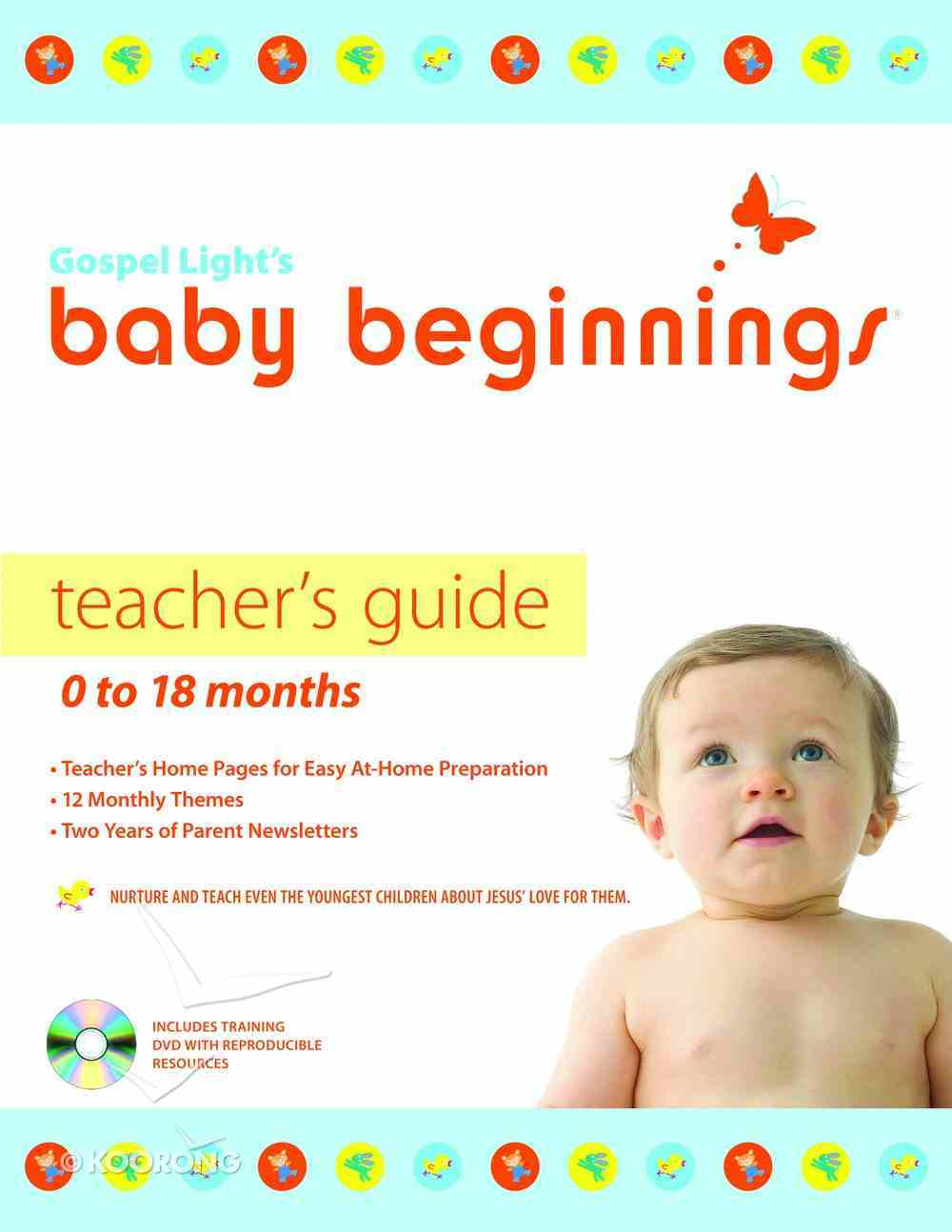 Baby Beginnings: Teacher's Guide With Cd-Rom (0-18 Months) Paperback