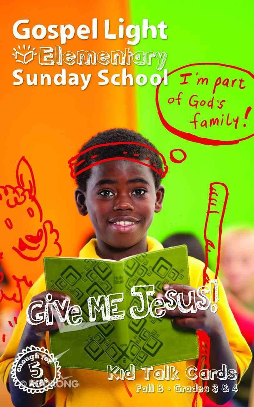 Gllw Fallb 2021 Student Talk Cards (Grades 3-4) (Gospel Light Living Word Series) Paperback