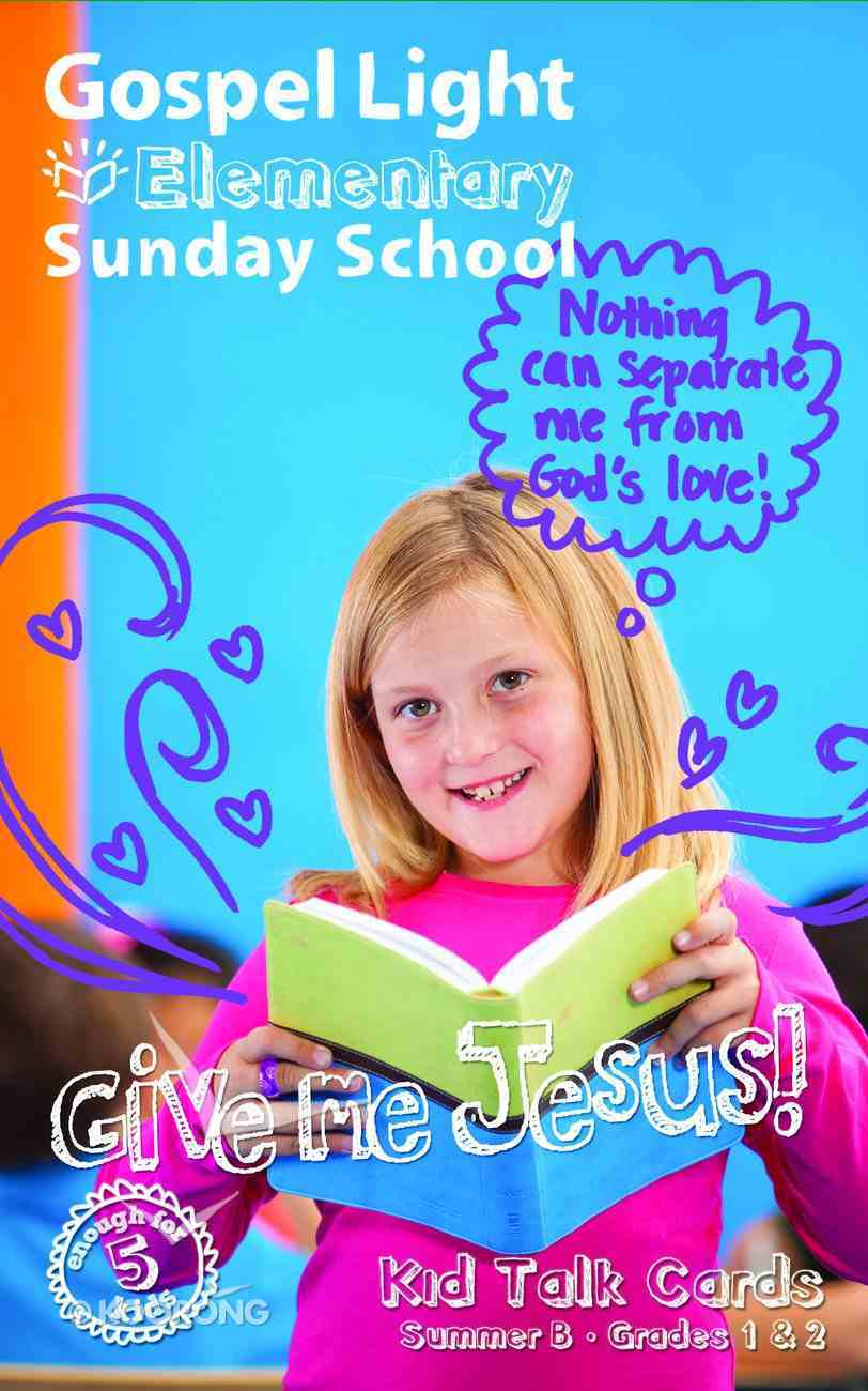 Gllw Summerb 2017 Grades 1&2 Kid Talk Cards (5 Pack For 5 Kids) (Gospel Light Living Word Series) Pack