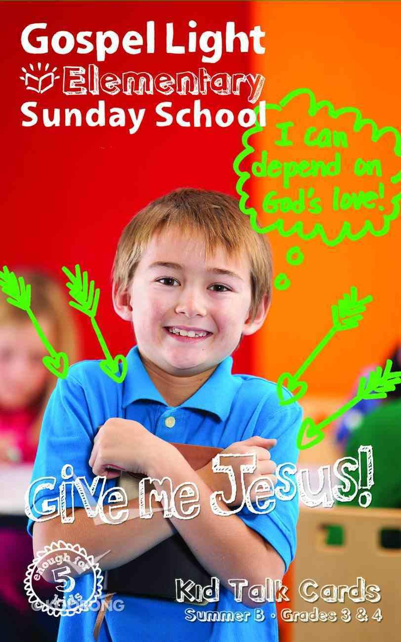 Gllw Summerb 2017 Grades 3&4 Kid Talk Cards (5 Packs For 5 Kids) (Gospel Light Living Word Series) Pack