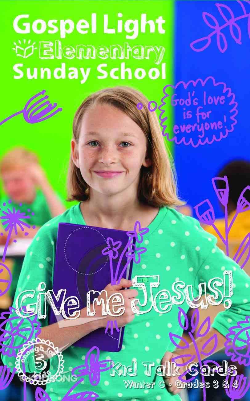 Gllw Winterc 2018 Grades 3&4 Kids Talk Cards (5 Pack For 5 Kids) (Gospel Light Living Word Series) Pack