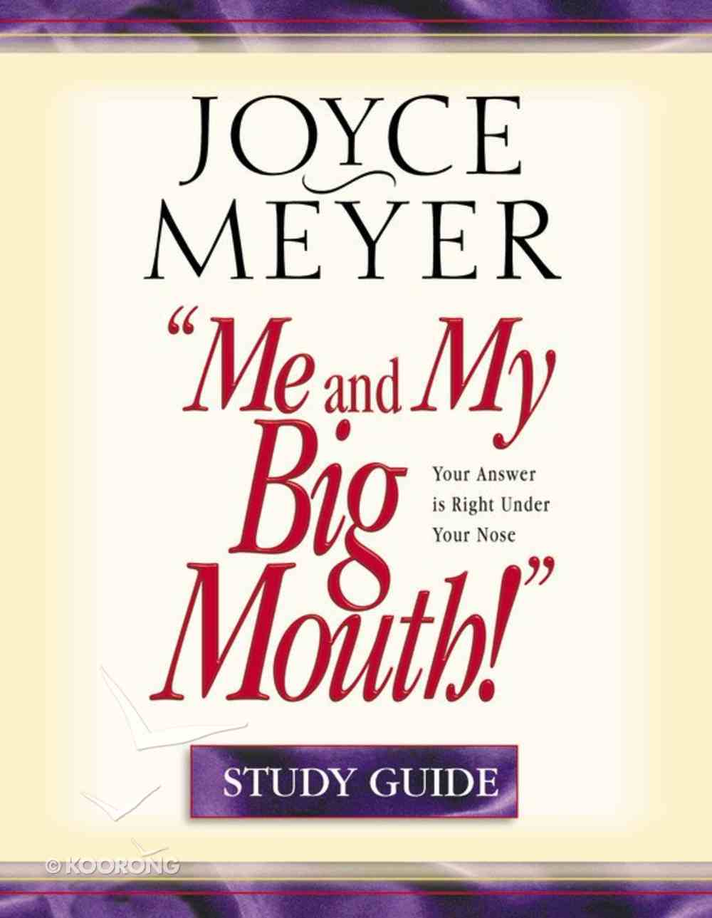 Me and My Big Mouth! (Study Guide) Paperback