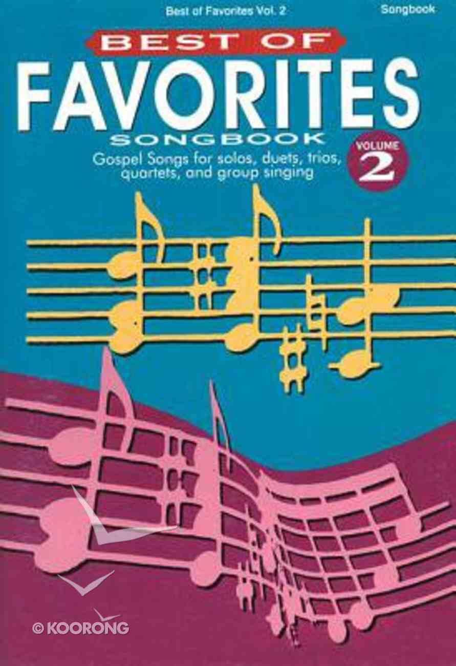 Best of Favourites V2 (Music Book) Paperback