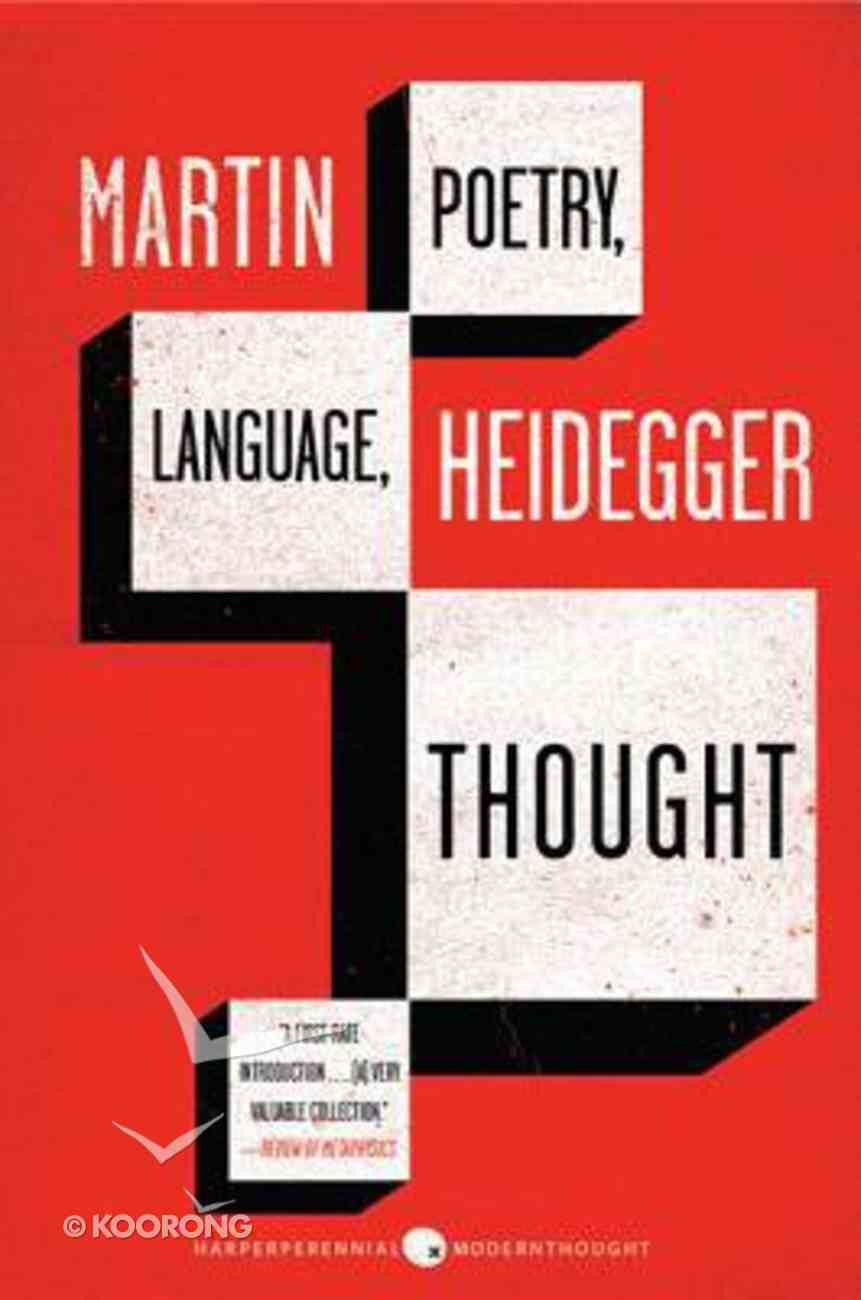 Poetry, Language, Thought Paperback