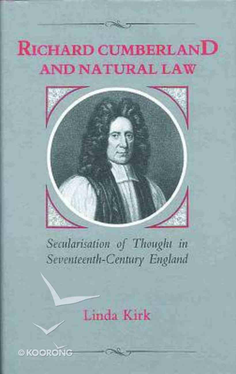 Richard Cumberland and Natural Law Hardback