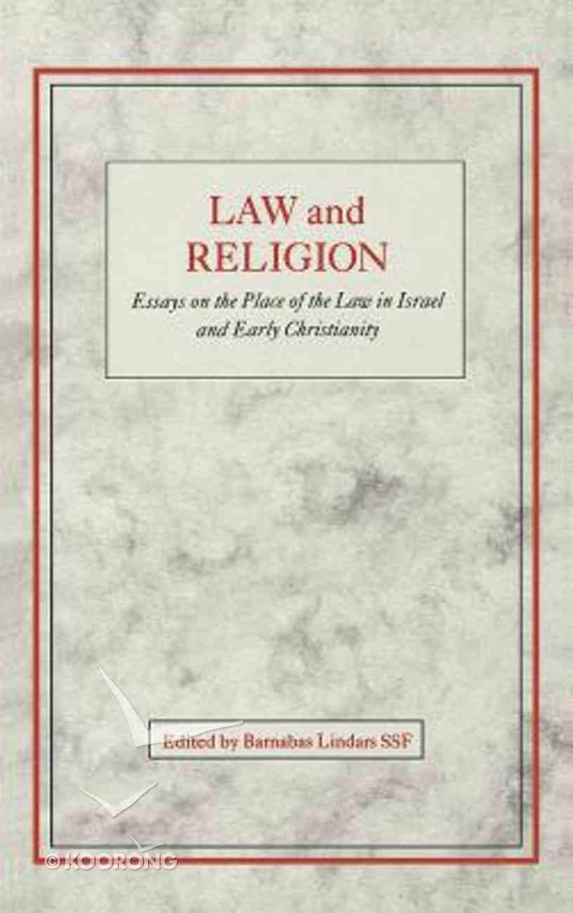 Law and Religion Hardback