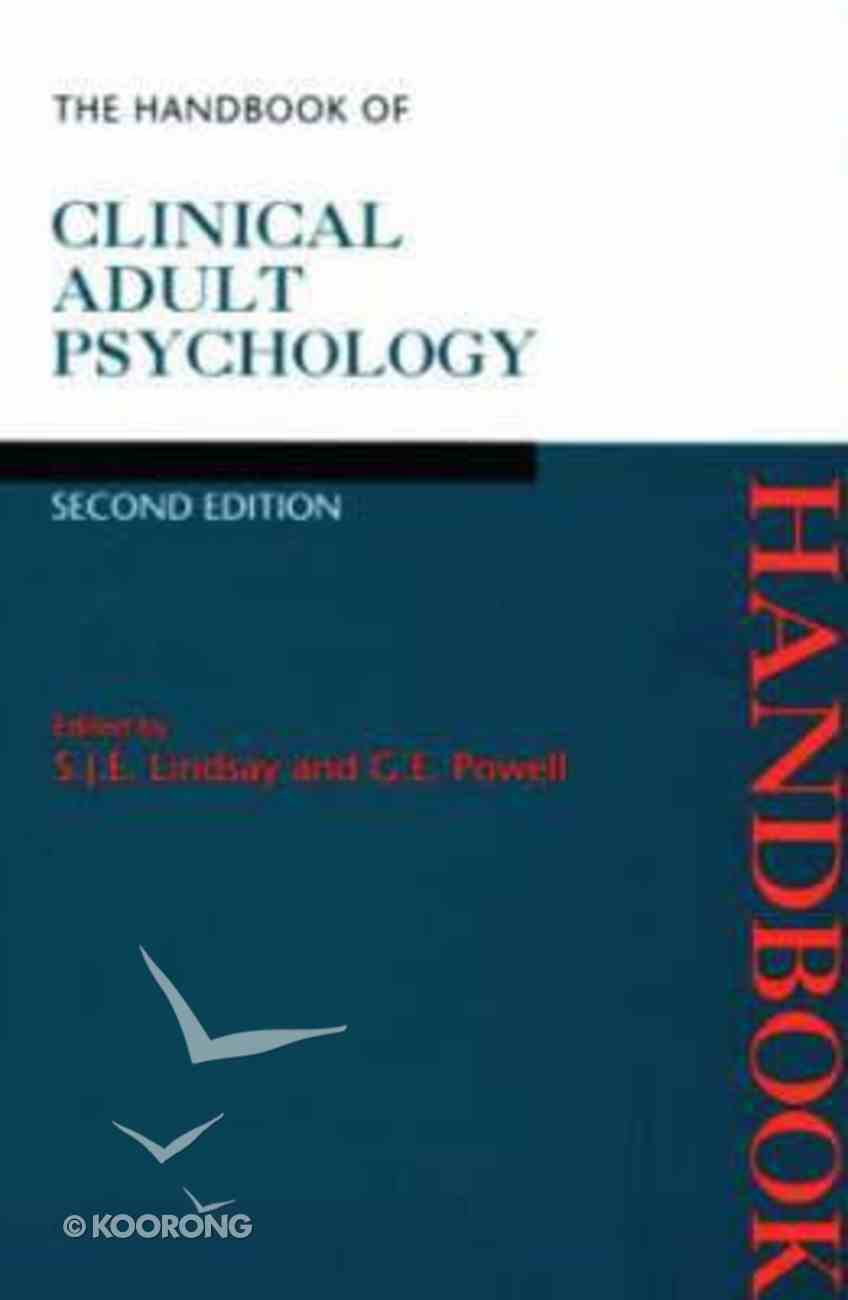 Handbook of Clinical and Psychology Paperback