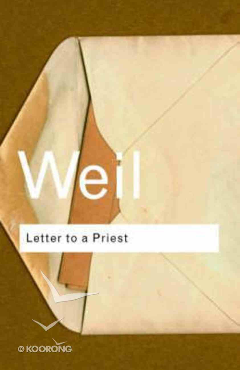 Letter to a Priest Paperback