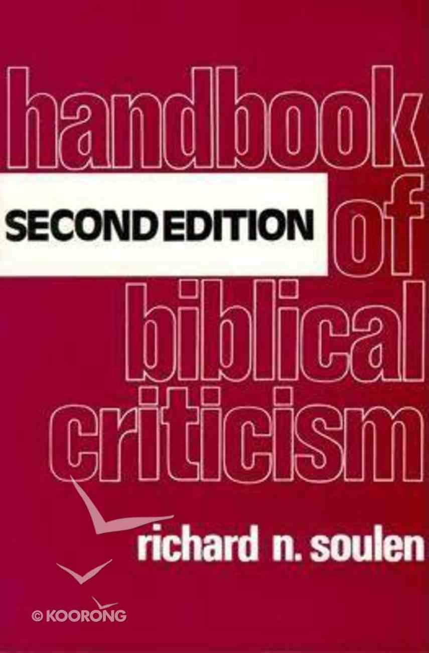 Handbook of Biblical Criticism Paperback