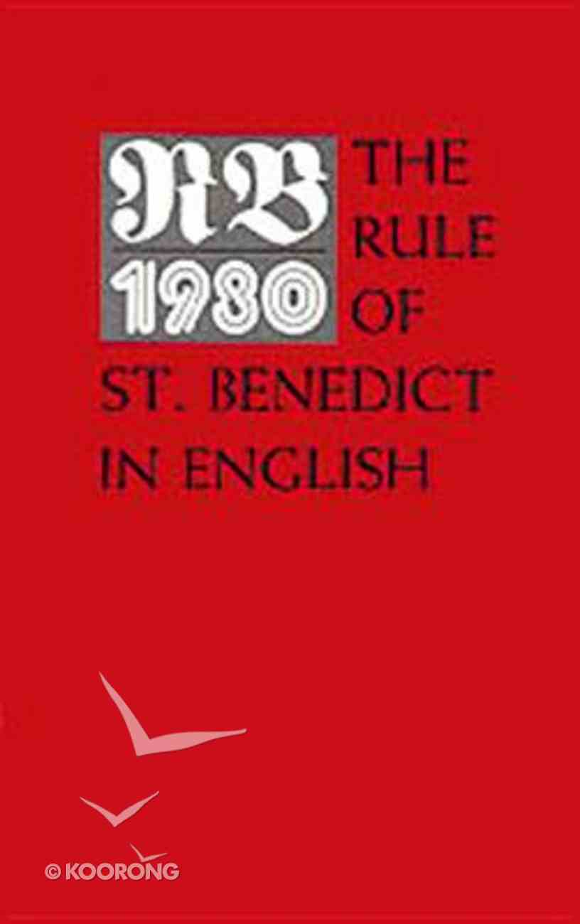 Rule of Saint Benedict in English Paperback