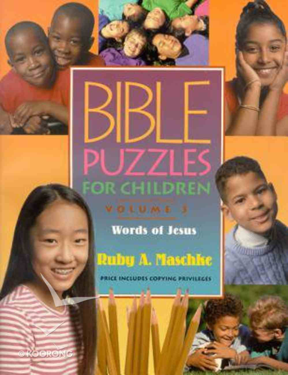 Bible Puzzles For Children (Volume 3) Paperback