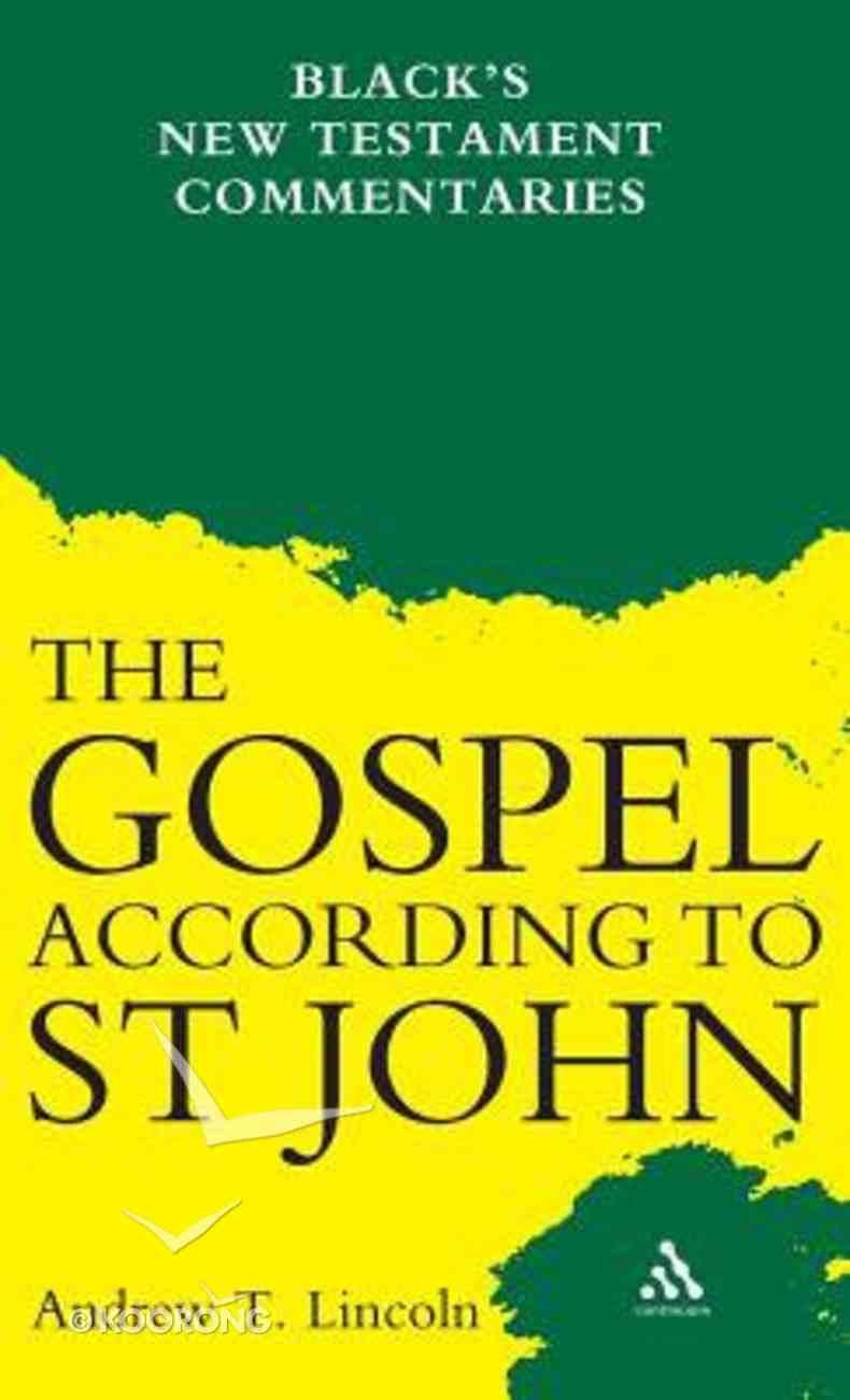 The Gospel According to Saint John (Black's New Testament Commentary Series) Hardback
