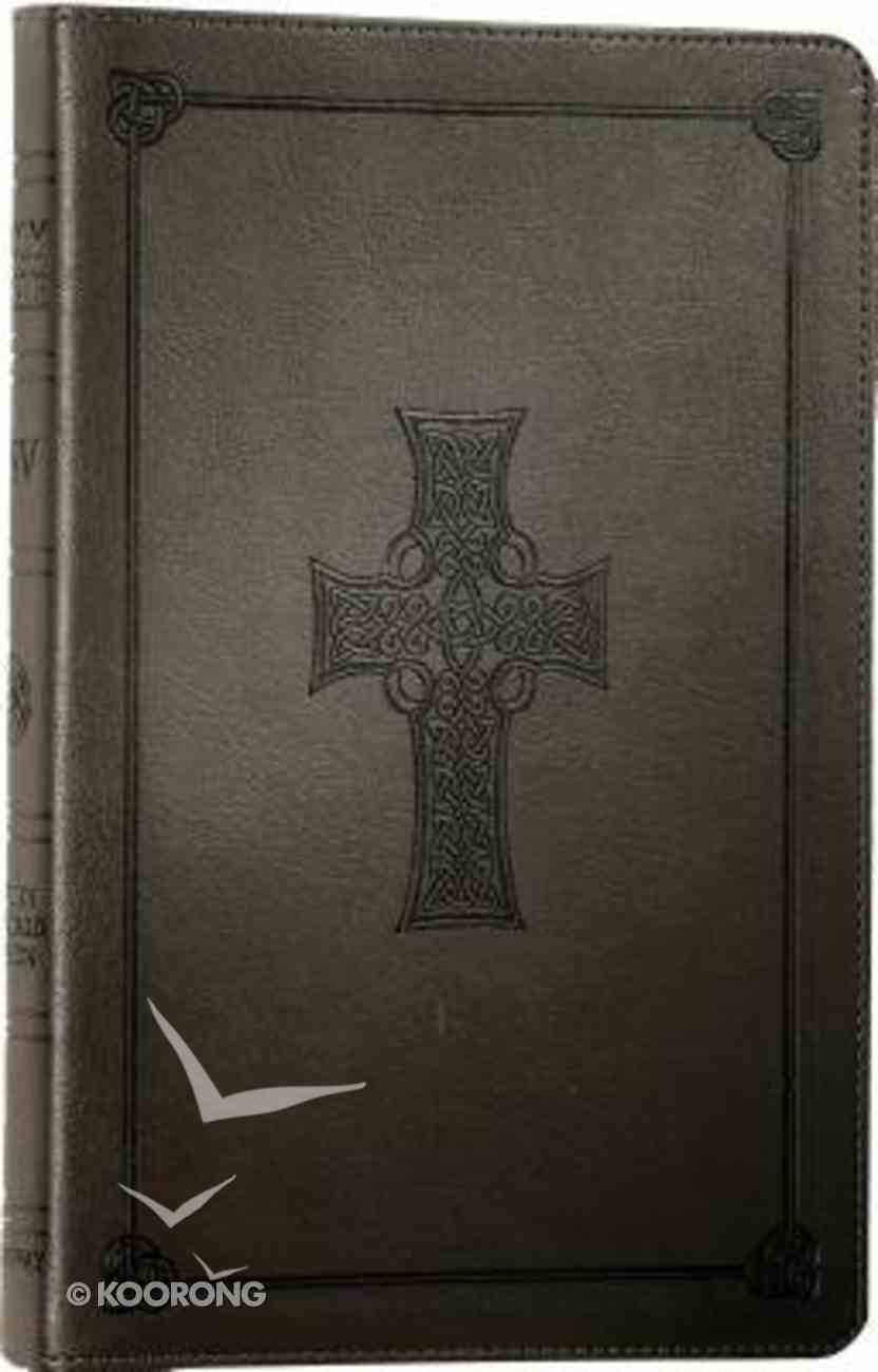 ESV Classic Reference Charcoal, Celtic Cross Edition Imitation Leather