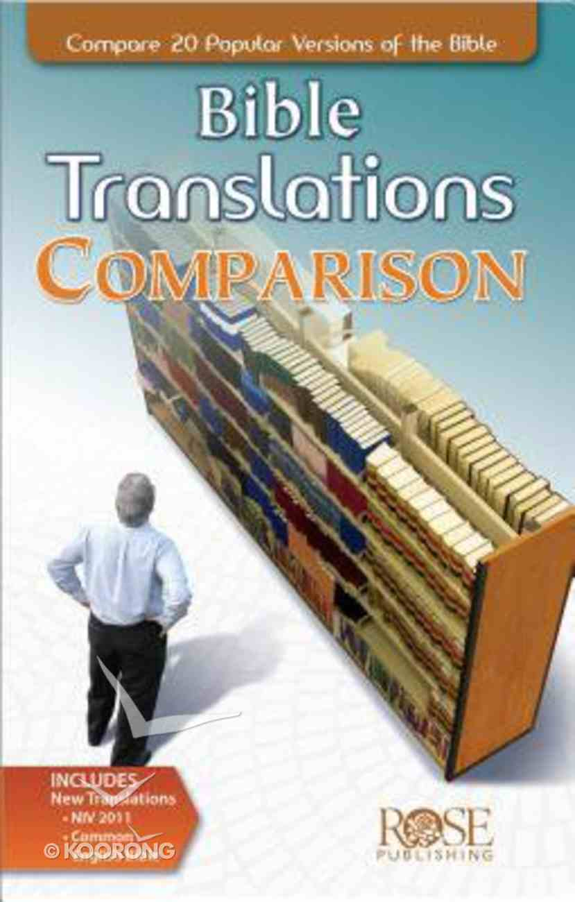 Bible Translations Comparison (Rose Guide Series) Booklet