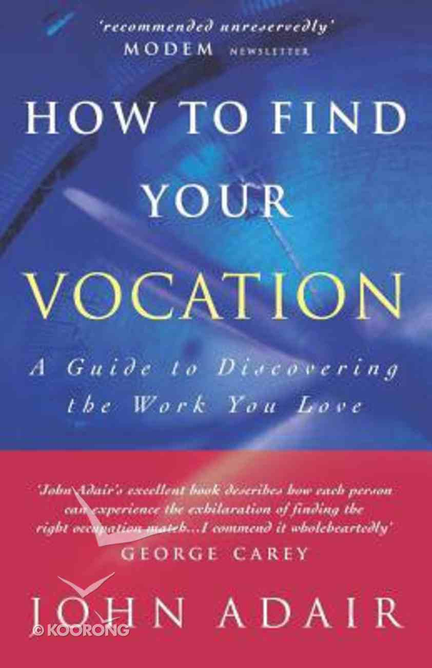 How to Find Your Vocation Paperback