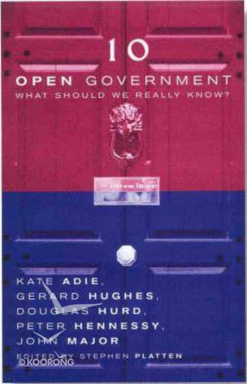Open Government Paperback