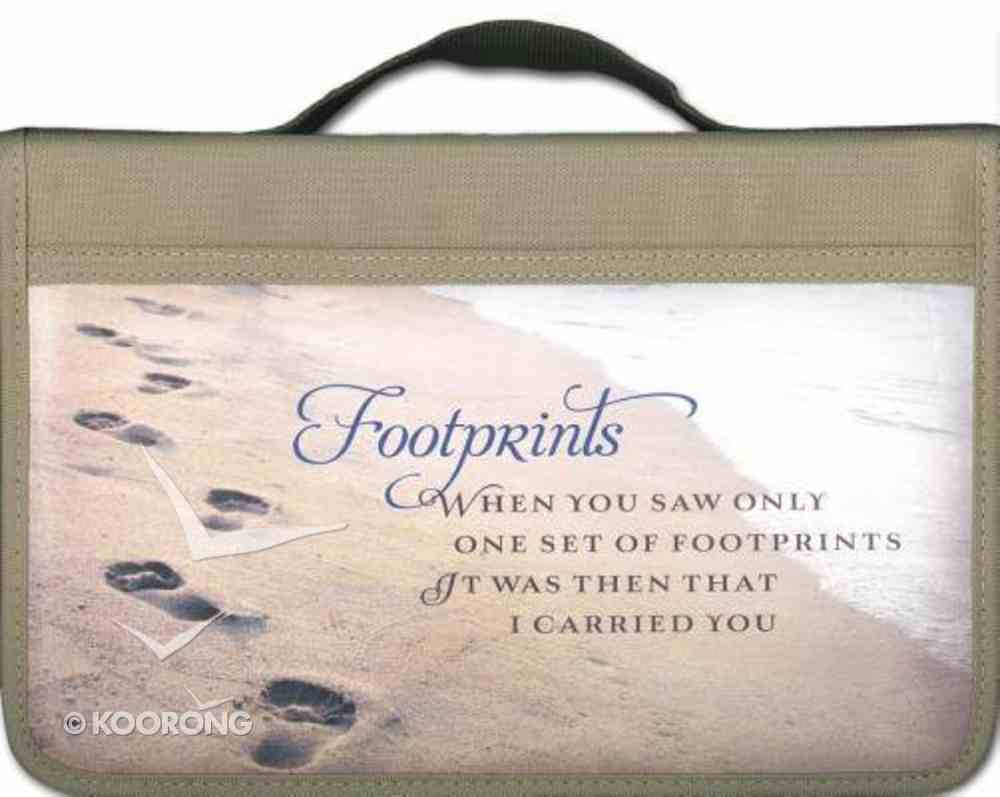 Bible Cover Footprints Canvas Cover Large Bible Cover