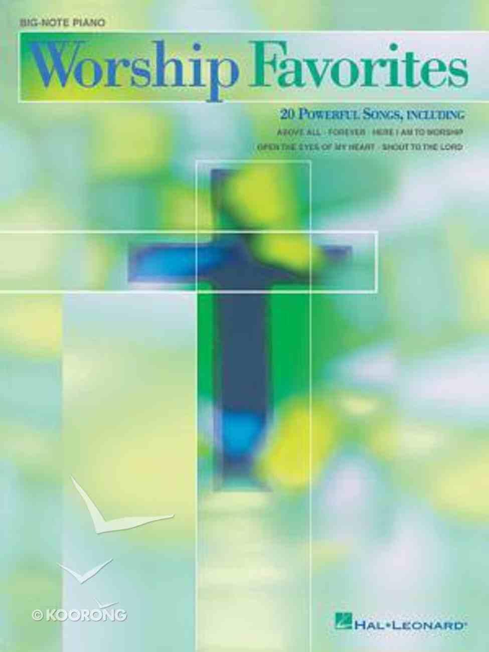 Big-Note Piano Worship Favorites (Music Book) Paperback