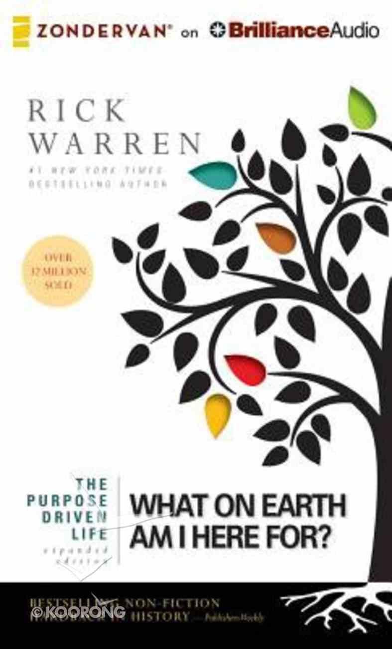 The Purpose Driven Life (Unabridged, 9 CDS) (The Purpose Driven Life Series) CD