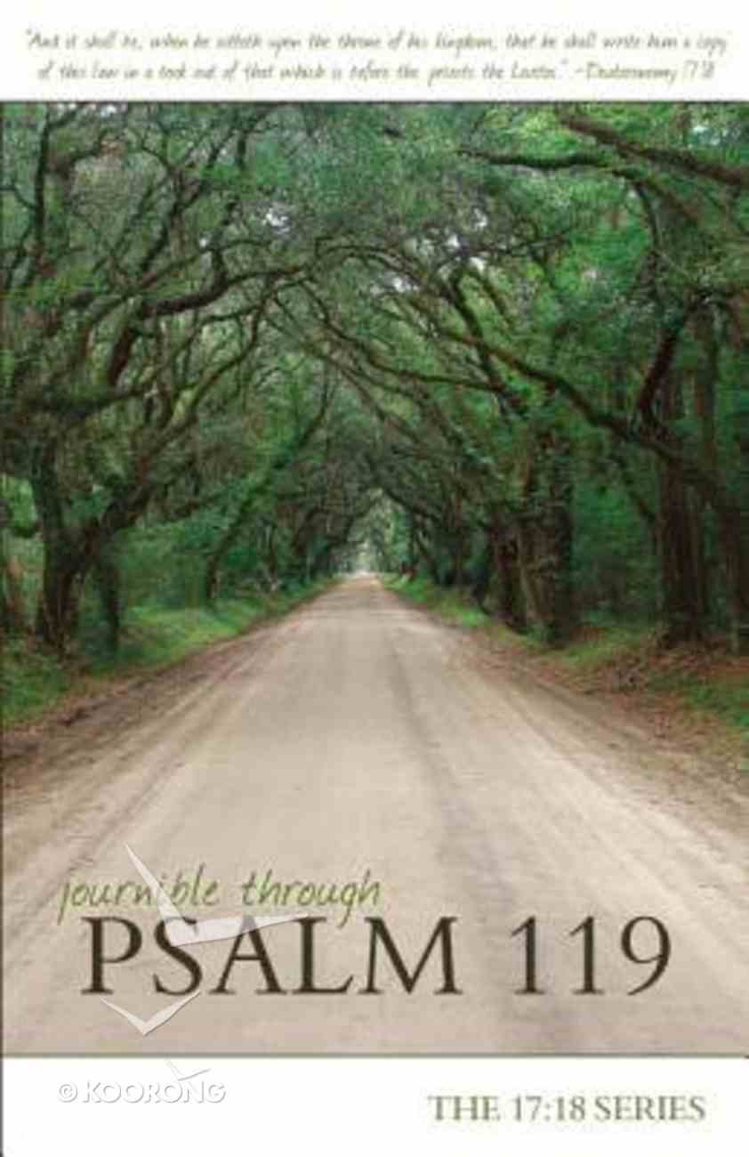 Journible 17: 18  Through Psalm 119 Paperback